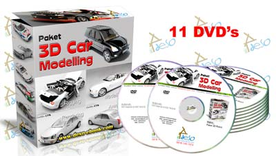 Paket DVD Tutorial 3D Car Modelling | deso-ebook com