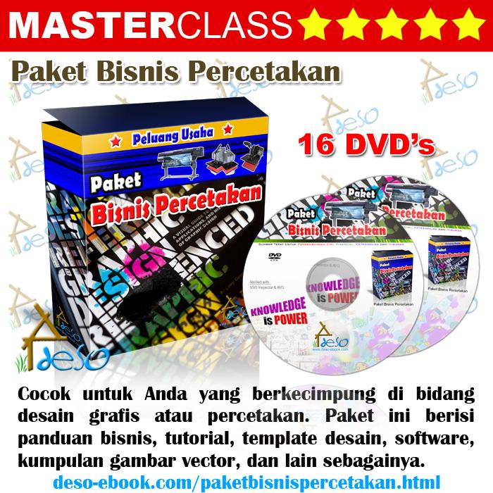 Bisnis Desain Grafis on Paket Dvd Tutorial Desain Grafis Untuk Bisnis Percetakan   Deso Ebook